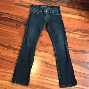 GUESS dark wash jeans bootcut SIZE 27 short